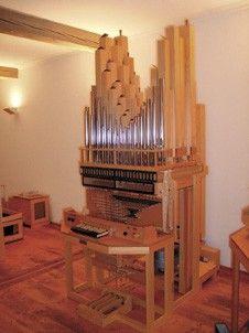 Modell einer Schleifladenorgel im Orgelmuseum